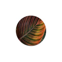 Leaf Colorful Nature Orange Season Golf Ball Marker (10 Pack) by Celenk