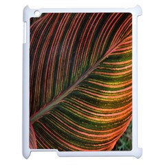 Leaf Colorful Nature Orange Season Apple Ipad 2 Case (white) by Celenk
