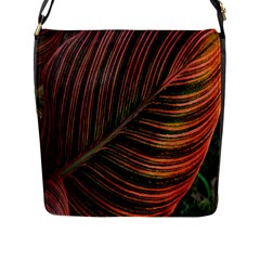 Leaf Colorful Nature Orange Season Flap Messenger Bag (l)  by Celenk