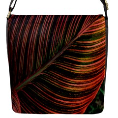Leaf Colorful Nature Orange Season Flap Messenger Bag (s) by Celenk