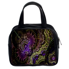 Abstract Fractal Art Design Classic Handbags (2 Sides)