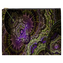 Abstract Fractal Art Design Cosmetic Bag (xxxl)  by Celenk