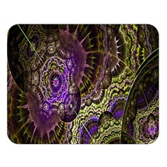 Abstract Fractal Art Design Double Sided Flano Blanket (large)  by Celenk