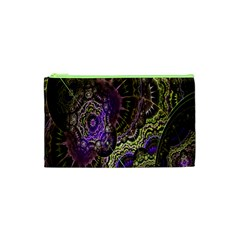 Abstract Fractal Art Design Cosmetic Bag (xs) by Celenk