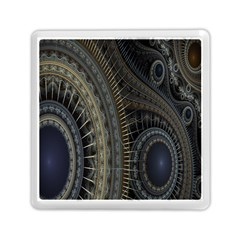 Fractal Spikes Gears Abstract Memory Card Reader (square)  by Celenk