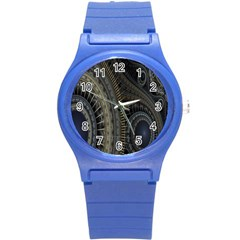 Fractal Spikes Gears Abstract Round Plastic Sport Watch (s) by Celenk