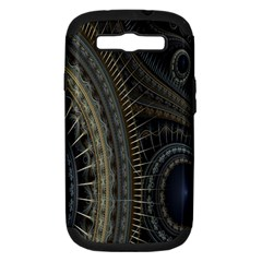 Fractal Spikes Gears Abstract Samsung Galaxy S Iii Hardshell Case (pc+silicone) by Celenk