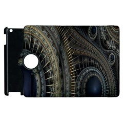 Fractal Spikes Gears Abstract Apple Ipad 3/4 Flip 360 Case by Celenk