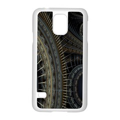 Fractal Spikes Gears Abstract Samsung Galaxy S5 Case (white) by Celenk