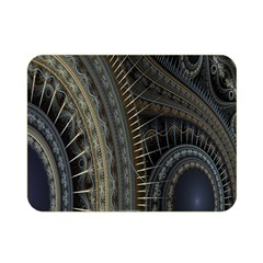 Fractal Spikes Gears Abstract Double Sided Flano Blanket (mini)  by Celenk