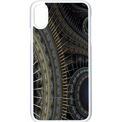 Fractal Spikes Gears Abstract Apple Iphone X Seamless Case (white) by Celenk