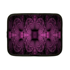 Fractal Magenta Pattern Geometry Netbook Case (small)  by Celenk