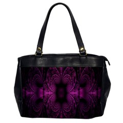 Fractal Magenta Pattern Geometry Office Handbags by Celenk