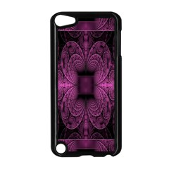 Fractal Magenta Pattern Geometry Apple Ipod Touch 5 Case (black) by Celenk