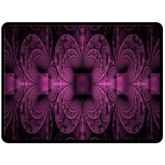 Fractal Magenta Pattern Geometry Double Sided Fleece Blanket (large)  by Celenk