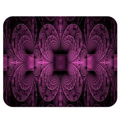 Fractal Magenta Pattern Geometry Double Sided Flano Blanket (medium)  by Celenk