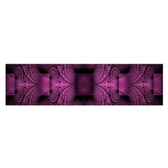 Fractal Magenta Pattern Geometry Satin Scarf (oblong) by Celenk
