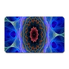 Cosmic Flower Kaleidoscope Art Magnet (rectangular) by Celenk
