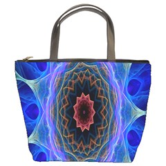 Cosmic Flower Kaleidoscope Art Bucket Bags by Celenk