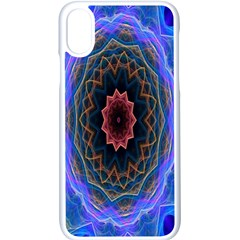 Cosmic Flower Kaleidoscope Art Apple Iphone X Seamless Case (white) by Celenk