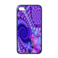 Fractal Fantasy Creative Futuristic Apple Iphone 4 Case (black) by Celenk