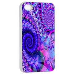 Fractal Fantasy Creative Futuristic Apple Iphone 4/4s Seamless Case (white) by Celenk