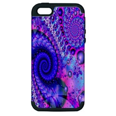 Fractal Fantasy Creative Futuristic Apple Iphone 5 Hardshell Case (pc+silicone) by Celenk