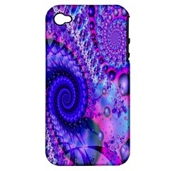 Fractal Fantasy Creative Futuristic Apple Iphone 4/4s Hardshell Case (pc+silicone) by Celenk