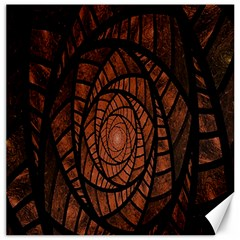 Fractal Red Brown Glass Fantasy Canvas 16  X 16   by Celenk
