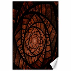 Fractal Red Brown Glass Fantasy Canvas 24  X 36  by Celenk