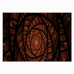 Fractal Red Brown Glass Fantasy Large Glasses Cloth by Celenk