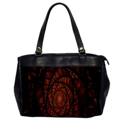 Fractal Red Brown Glass Fantasy Office Handbags by Celenk