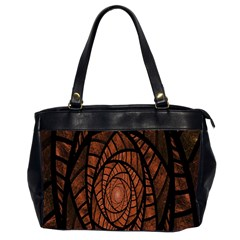 Fractal Red Brown Glass Fantasy Office Handbags (2 Sides)  by Celenk