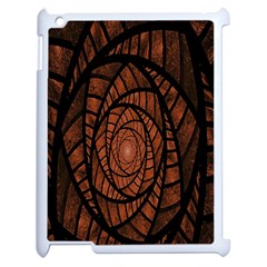 Fractal Red Brown Glass Fantasy Apple Ipad 2 Case (white) by Celenk