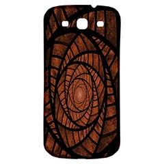 Fractal Red Brown Glass Fantasy Samsung Galaxy S3 S Iii Classic Hardshell Back Case by Celenk
