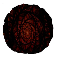 Fractal Red Brown Glass Fantasy Large 18  Premium Flano Round Cushions by Celenk