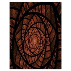 Fractal Red Brown Glass Fantasy Drawstring Bag (large) by Celenk