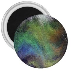 Frosted Glass Background Psychedelic 3  Magnets by Celenk
