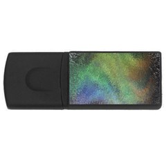Frosted Glass Background Psychedelic Rectangular Usb Flash Drive by Celenk