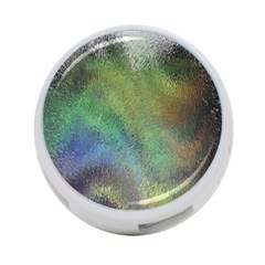 Frosted Glass Background Psychedelic 4 Port Usb Hub (one Side) by Celenk