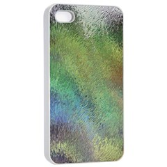 Frosted Glass Background Psychedelic Apple Iphone 4/4s Seamless Case (white) by Celenk