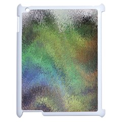Frosted Glass Background Psychedelic Apple Ipad 2 Case (white) by Celenk