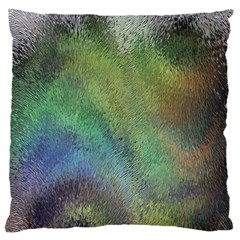 Frosted Glass Background Psychedelic Large Cushion Case (two Sides) by Celenk