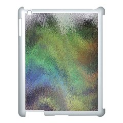 Frosted Glass Background Psychedelic Apple Ipad 3/4 Case (white) by Celenk