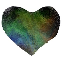 Frosted Glass Background Psychedelic Large 19  Premium Heart Shape Cushions by Celenk