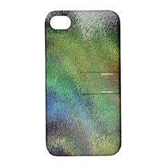 Frosted Glass Background Psychedelic Apple Iphone 4/4s Hardshell Case With Stand by Celenk