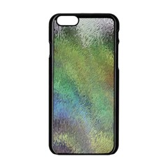 Frosted Glass Background Psychedelic Apple Iphone 6/6s Black Enamel Case by Celenk