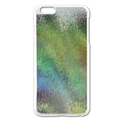 Frosted Glass Background Psychedelic Apple Iphone 6 Plus/6s Plus Enamel White Case by Celenk