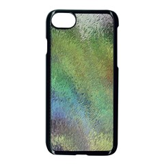 Frosted Glass Background Psychedelic Apple Iphone 8 Seamless Case (black) by Celenk