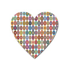 Decorative Ornamental Concentric Heart Magnet by Celenk